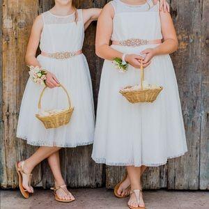Soft white flower girl dress
